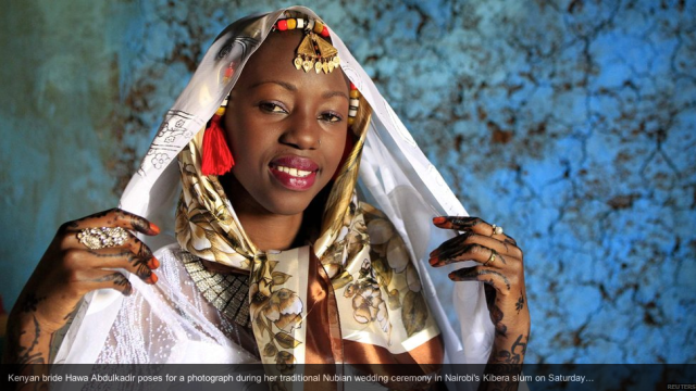 Kenyan bride Nubian wedding, bbc news