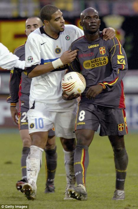 Marco Zoro and Adriano © Getty Images