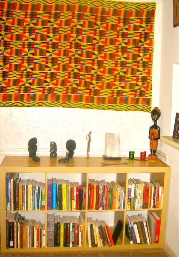 African Centered book shelf...