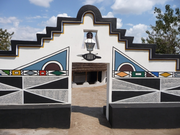 Ndebele of Southern Africa, House painting..