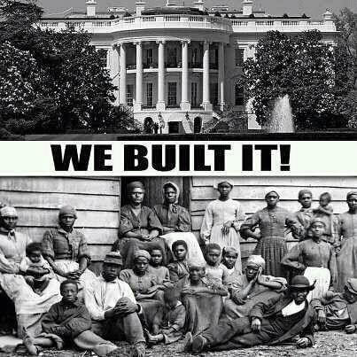 African Americans built US white house